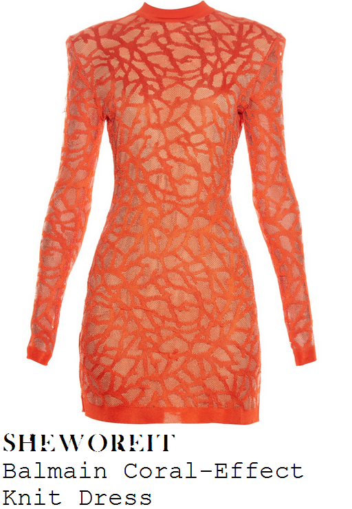 alesha-dixon-bright-orange-textured-long-sleeve-bodycon-mini-dress-briains-got-talent