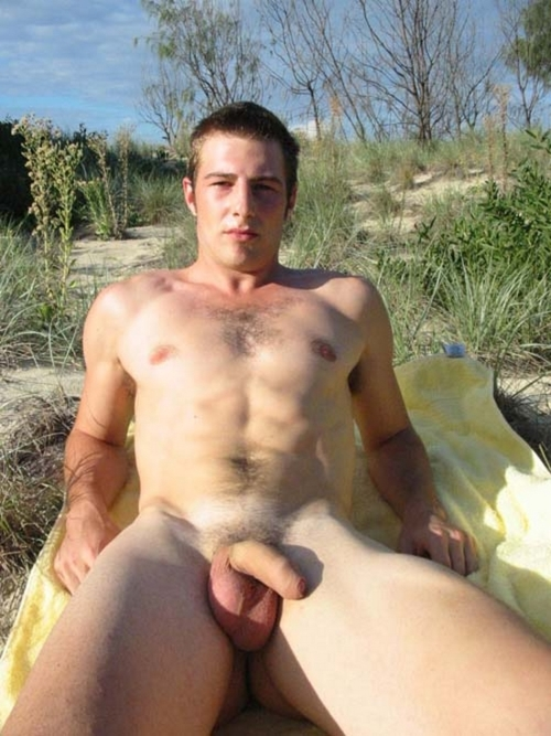 Naked hairy men nude outdoors