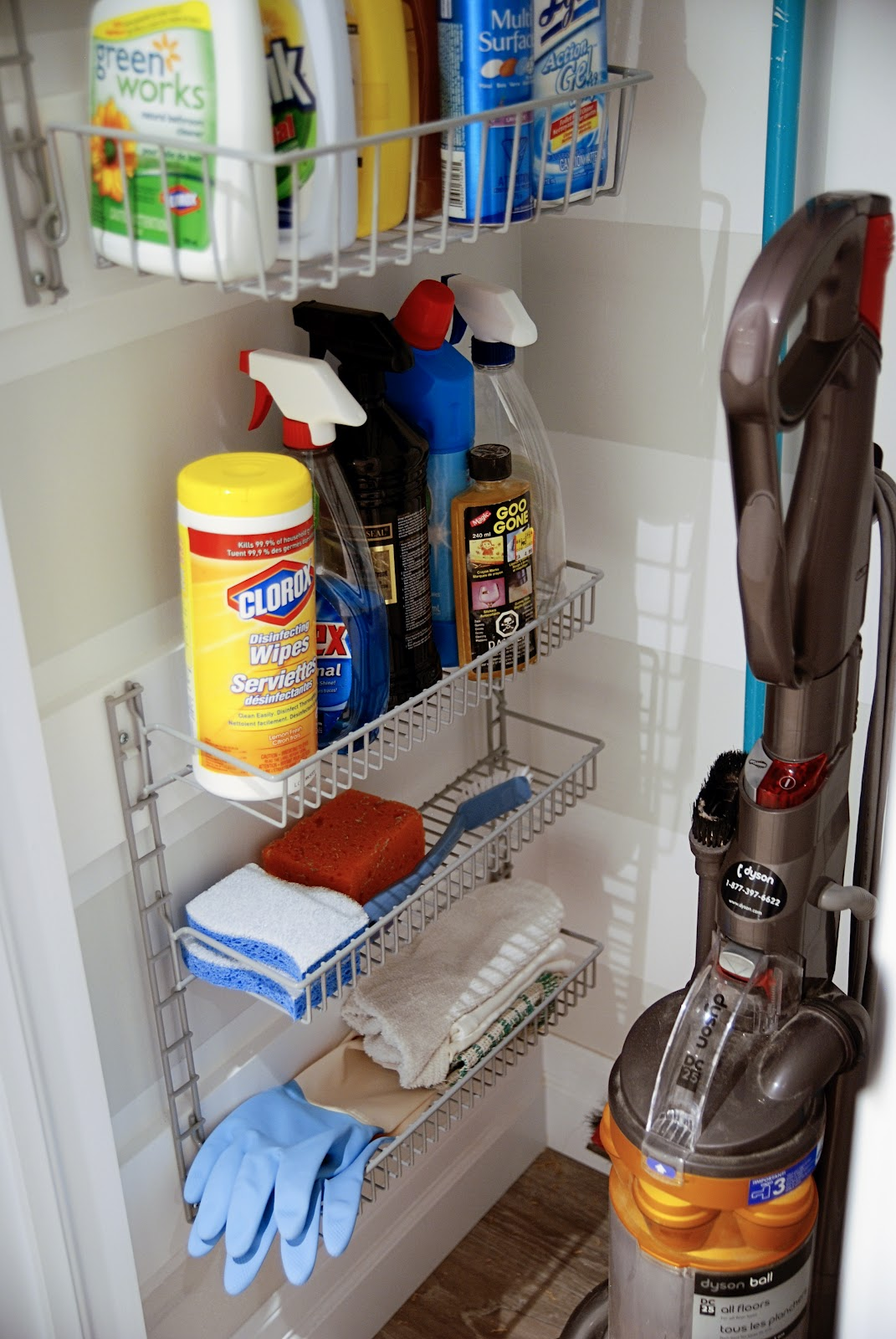 Pretty broom closet rambling renovators for House cleaning and organizing