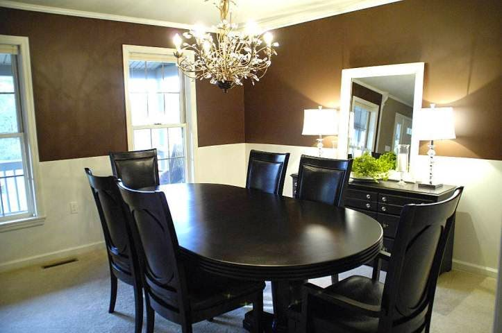 Accent wall paint ideas dining room for B q dining room ideas