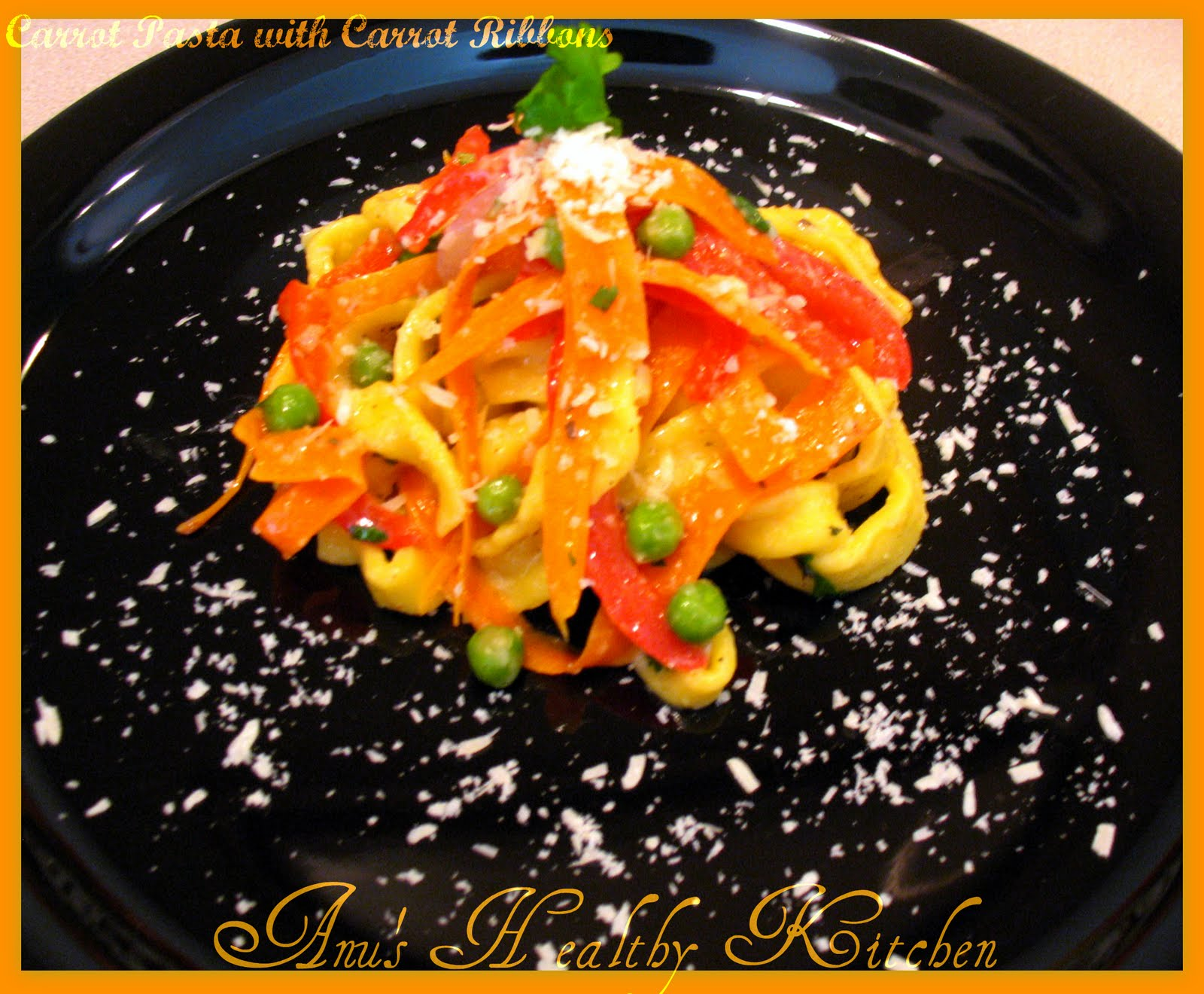 Carrot Pasta with Carrot Ribbons