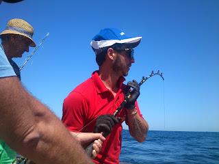 Tuna fishing. Pesca de atun en charter de pesca. Deep sea fishing