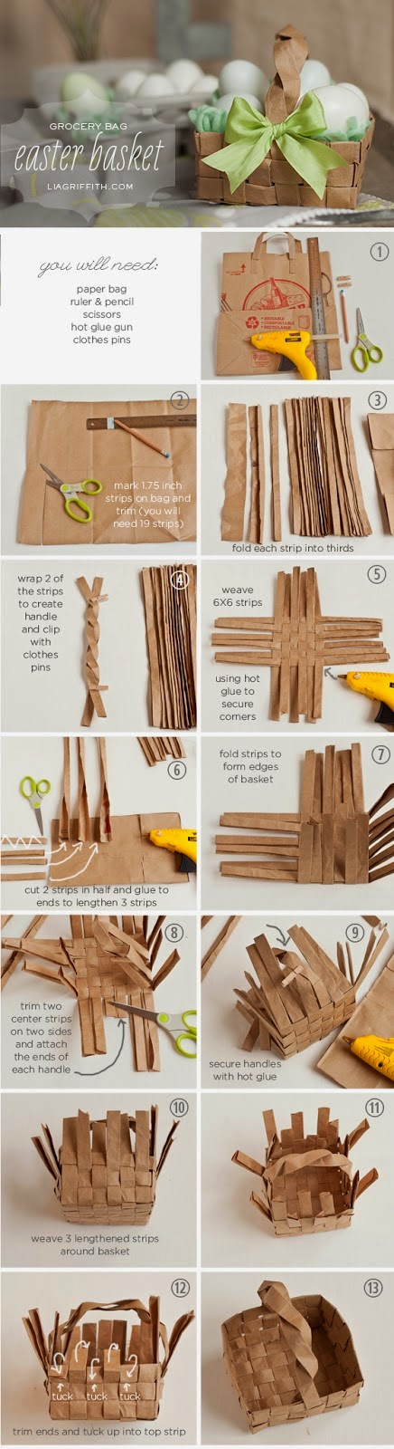 Como fazer uma cesta de papel reciclado