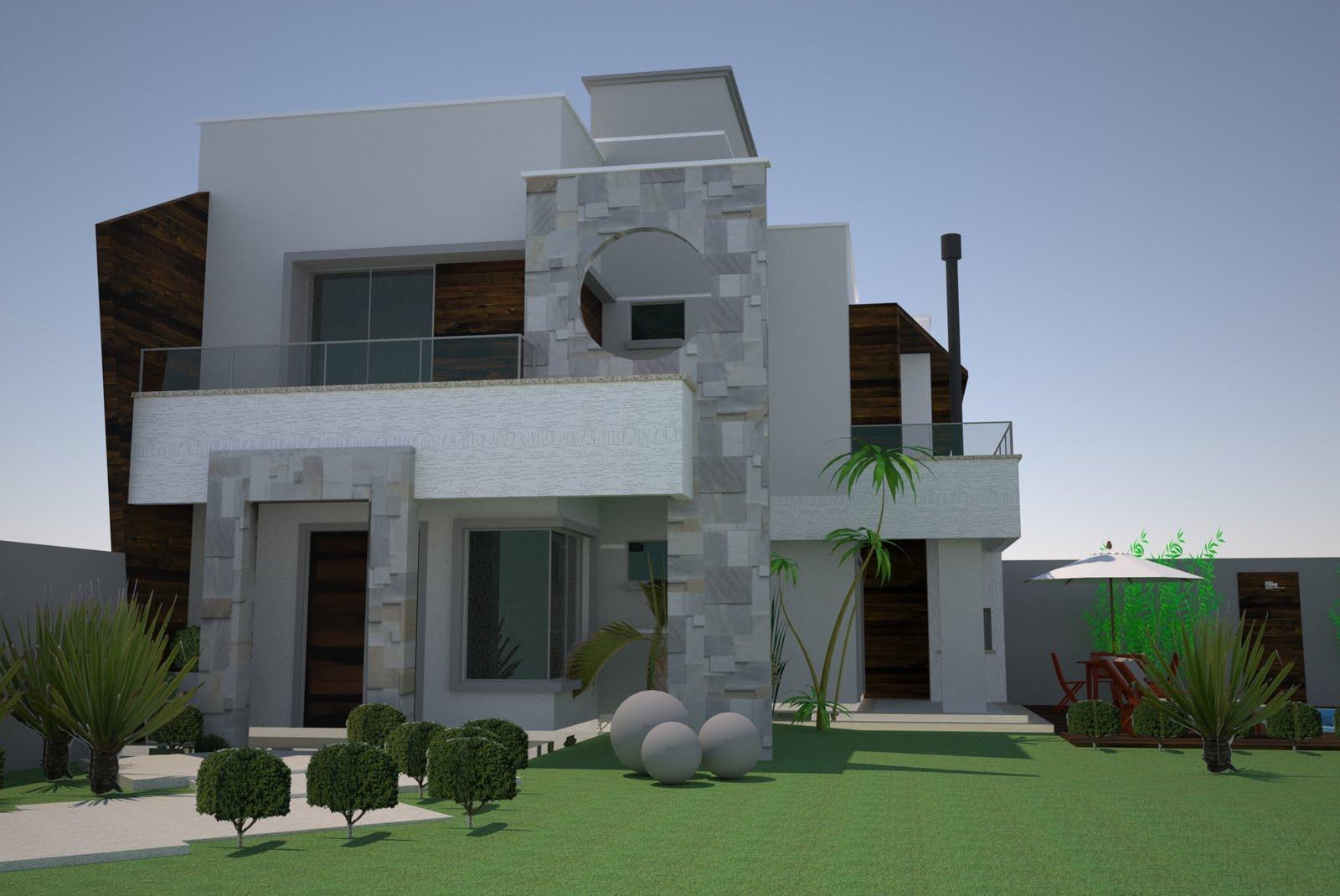Halla arquitetura e urbanismo casa moderna for Cores modernas para fachadas de casas 2013