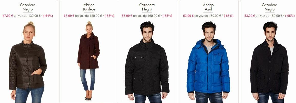 Oferta de abrigos y chaquetas