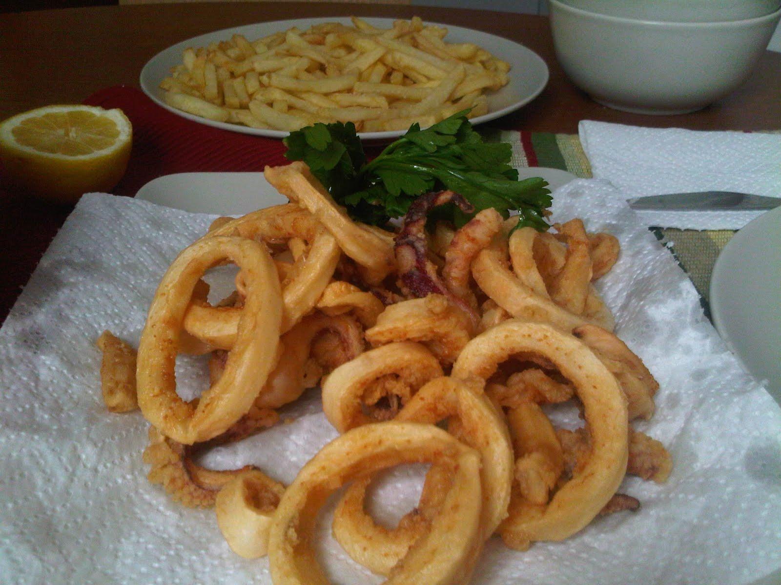 Y hoy qu cocino calamares rebozados - Limpiar calamares pequenos ...