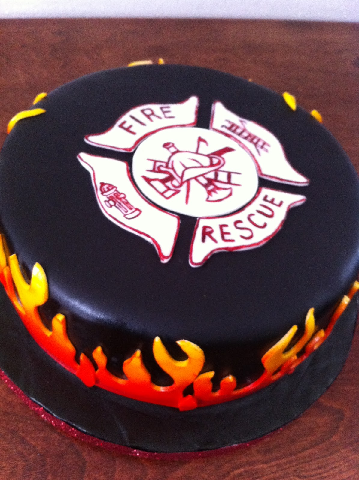 Donna Belle Desserts Firefighter Cake