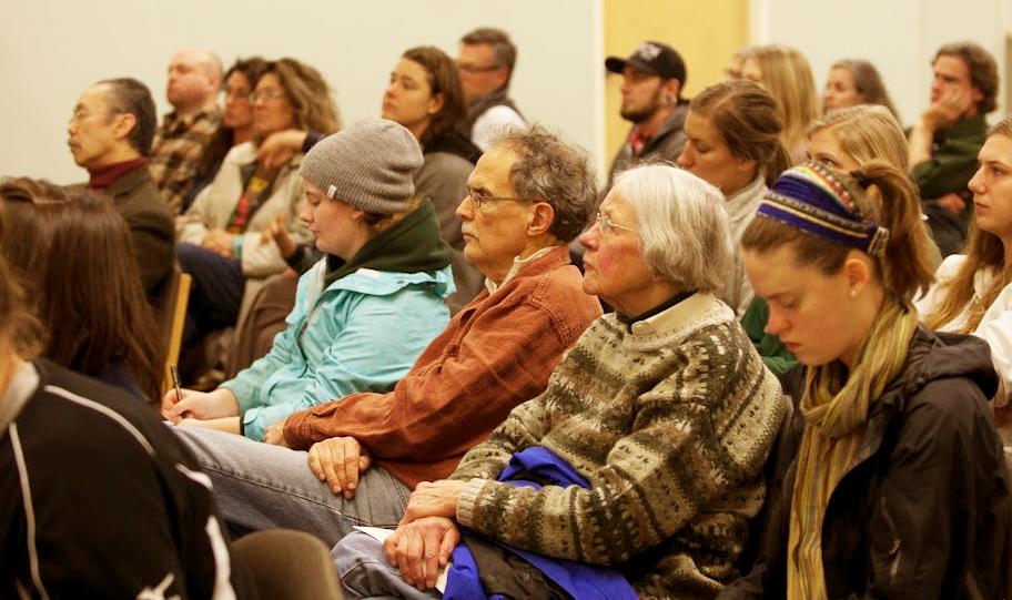 SOPHIA participants listening to an announcement.