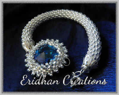 crystal beaded crochet bracelet