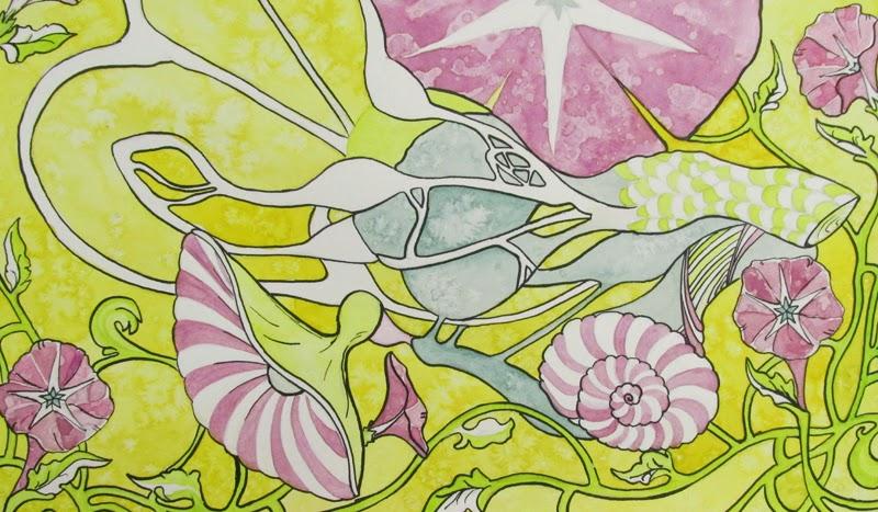 ©2014 Lauren T Kistner, work in progress, watercolor and ink