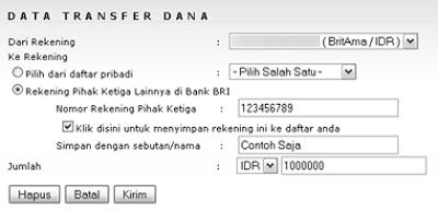Cara Mentransfer Uang Melalui Internet Banking BRI 2 Panduan Online Banking