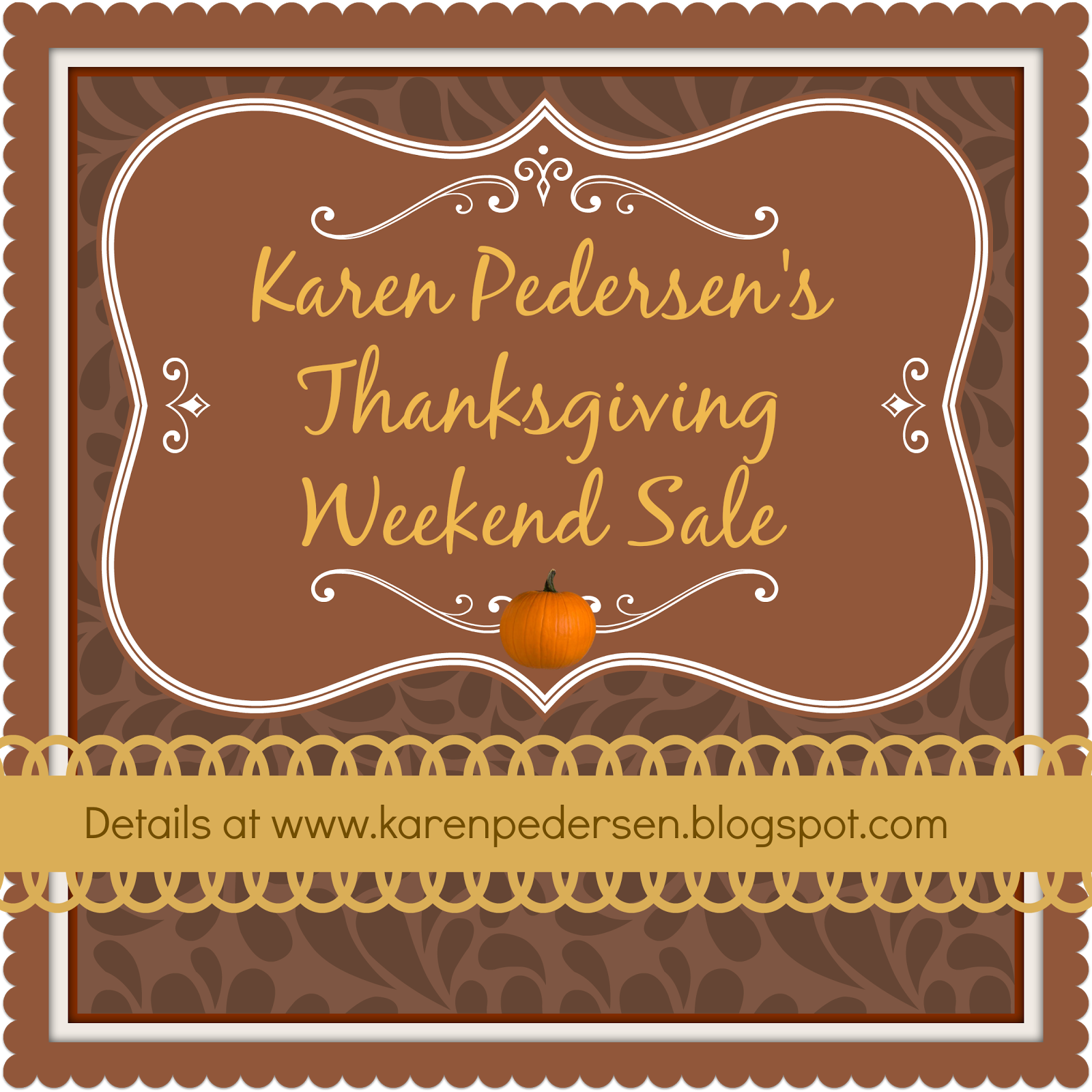 Exclusive Thanksgiving Weekend Sale from Karen Pedersen
