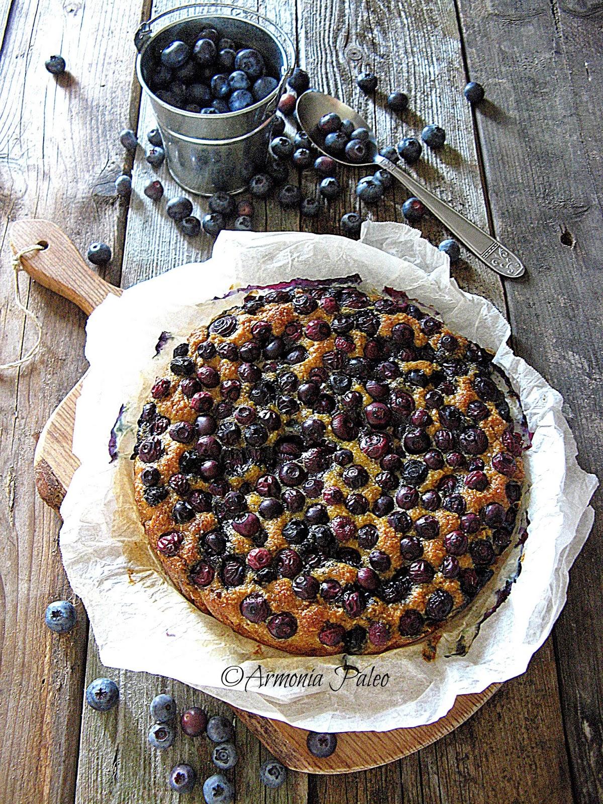 Mustikkapiiras - Torta di Mirtilli Finlandese di Armonia Paleo