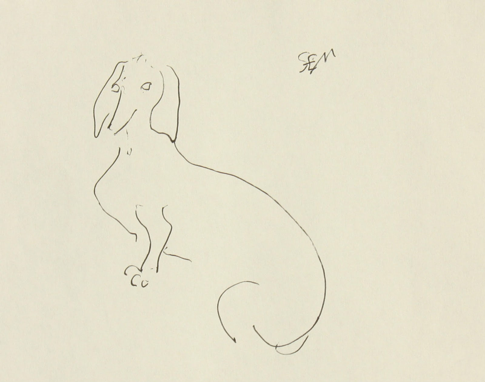 Line Drawing Dachshund : The other oeuvre dachshund drawing