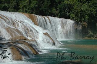 paysage mexique chiapas agua azul cascade blog voyage photo