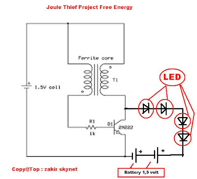 Technical Overview besides Joule Thief Project Free Energy besides JouleThief as well Qrpthief likewise Chapt5. on joule thief aa battery led circuit