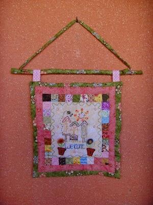 Mini quilt Primavera