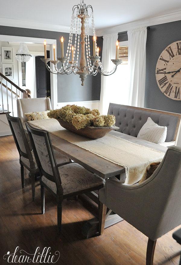 Dear lillie fall house tour 2015 for Grey dining room design ideas