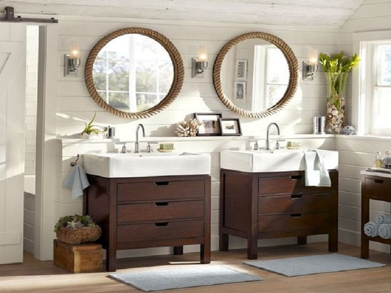 The Oval Mirror Could Be Place On Top Of Bathroom Cabinet Very Beautiful And Elegant Vintage Frames Valuable Ornament In