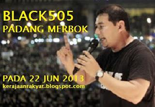 perhimpunan Black 505 padang merbok