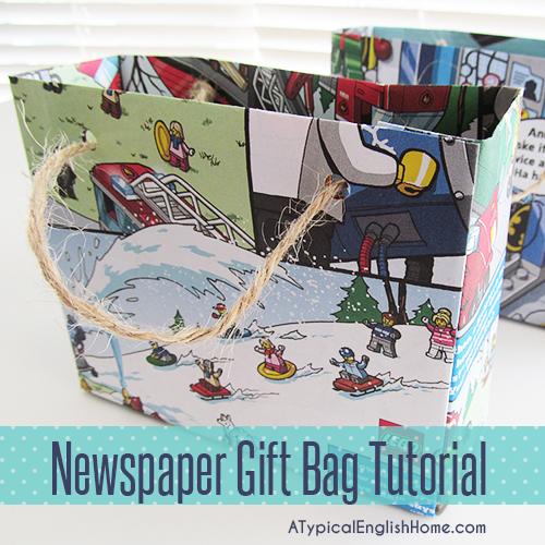 newspaper gift bags