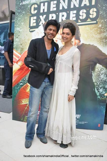 Shahrukh, Rohit & Deepika Padukone @ Chennai Express Trailer Launch-5
