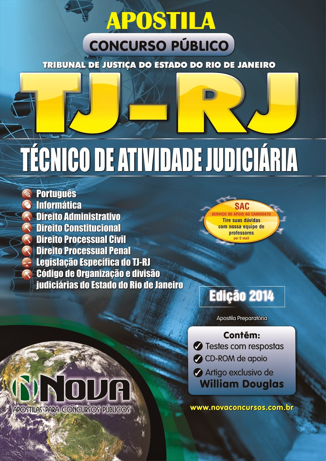 Apostila Concurso Tribunal de Justiça do Rio de Janeiro  TJ - RJ para Técnico de Atividade Judiciária