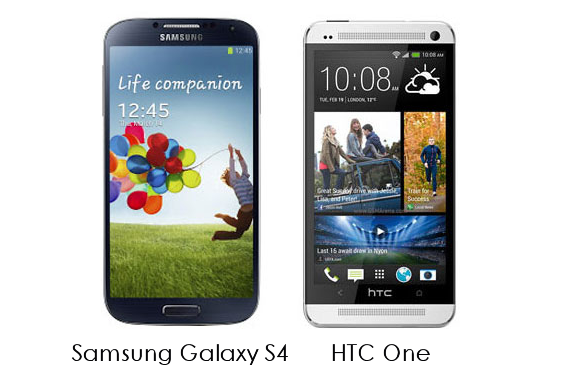 HTC One vs Samsung Galaxy S4 Feature Comparison pros and cons