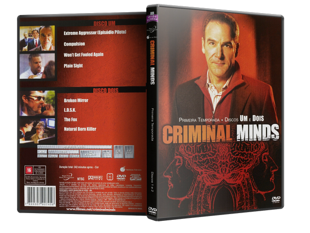 Capa DVD Criminal Minds 1ª Temporada