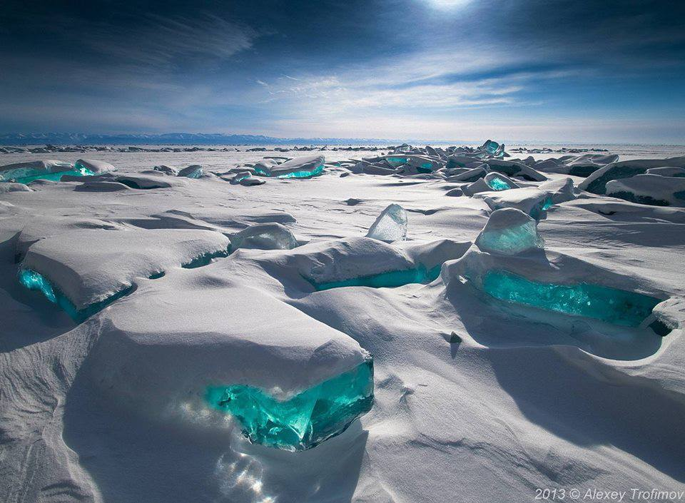 Turquoise Ice Northern Lake Baikal Russia randommusings.filminspector.com