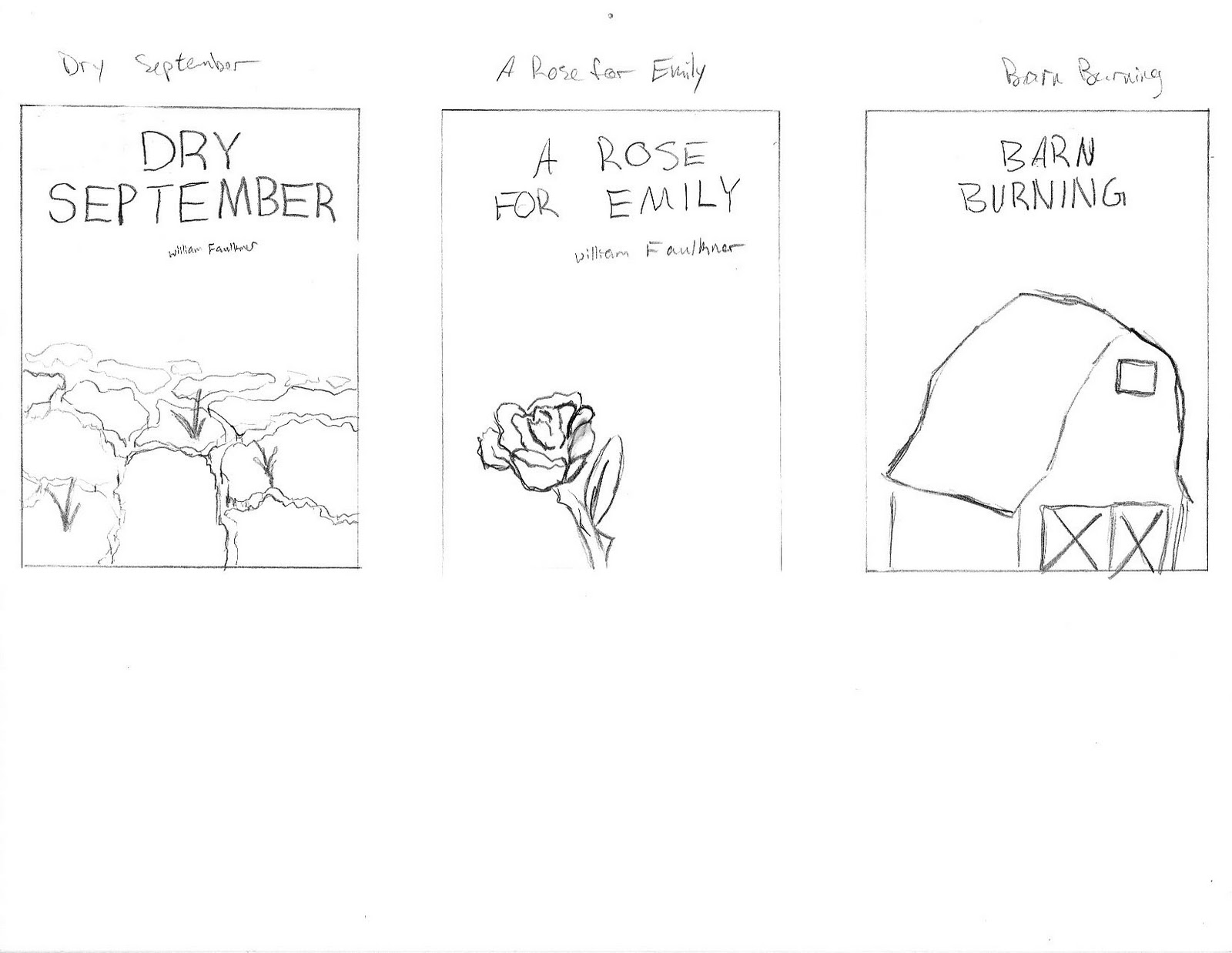 """themes in barn burning and a rose for emily Hunter taylor dr william bedford english 1102-011 10 september 2013 comparing and contrasting """"a rose for emily"""" and """"barn burning"""" in william faulkner's short stories """"a rose for emily"""" and """"barn burning"""" the characters are both guilty of."""