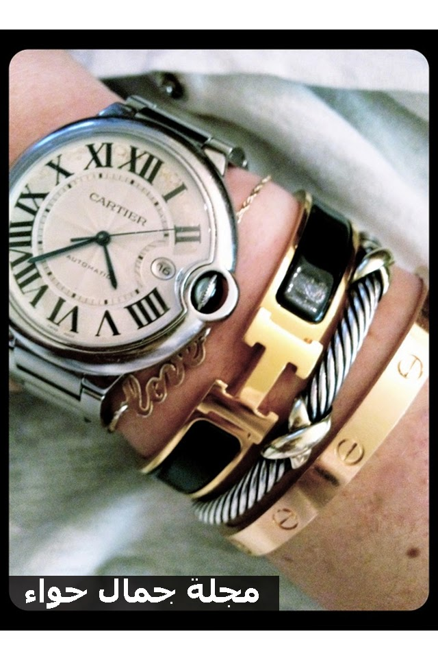 كيف ترتدين ساعة اليد مع الأساور بأناقة؟