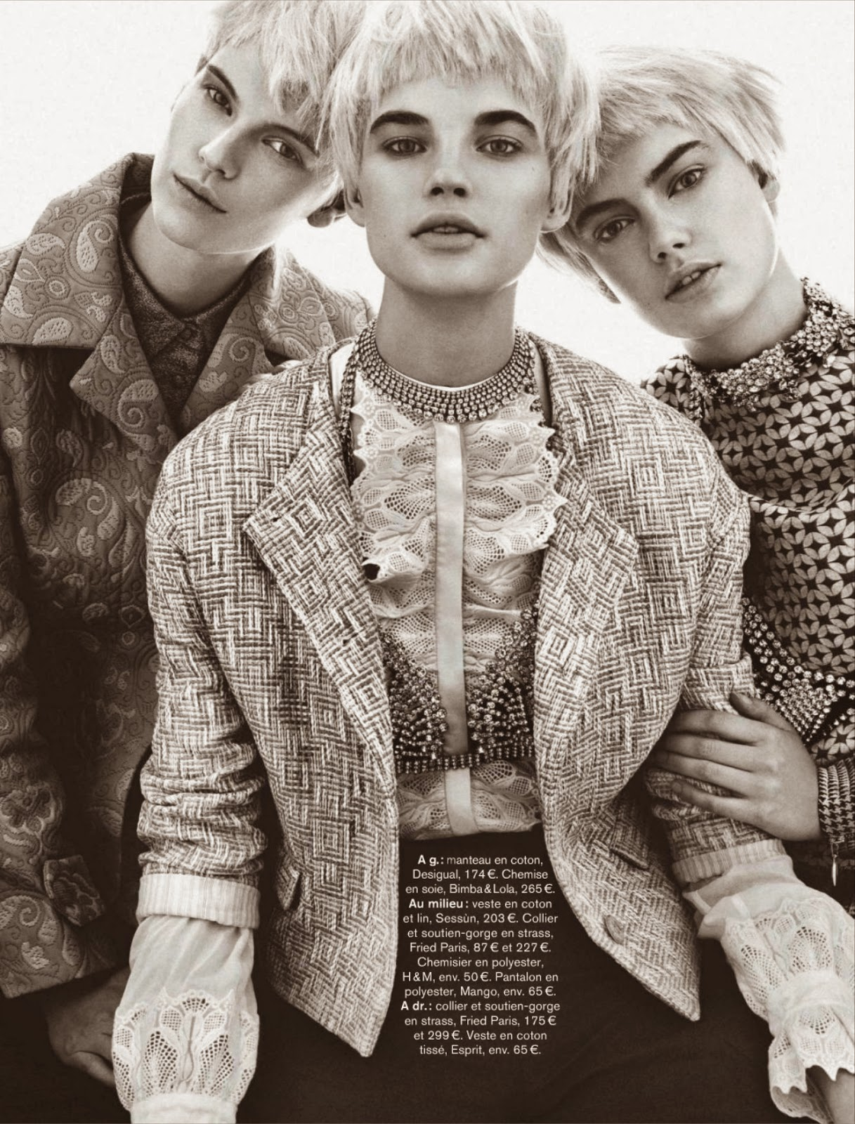 Victoria Tuaz, Hanna Verhees, Izabel Scholten HQ Pictures Glamour France Magazine Photoshoot March 2014