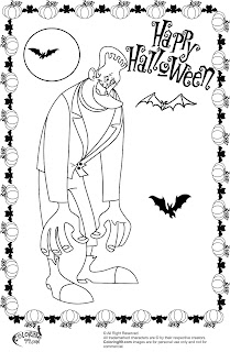 frankenstein and bats coloring pages for halloween