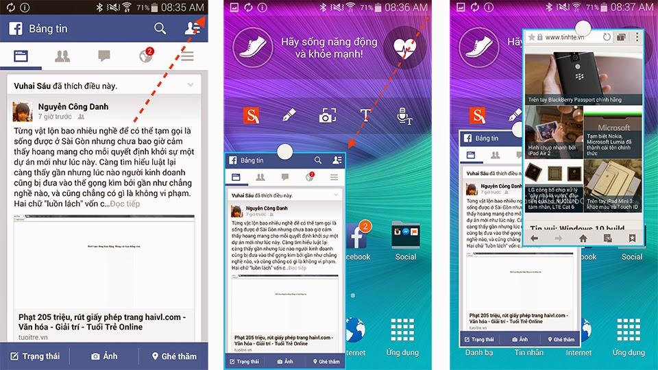Tính năng đa nhiệm của Samsung Galaxy Note 4
