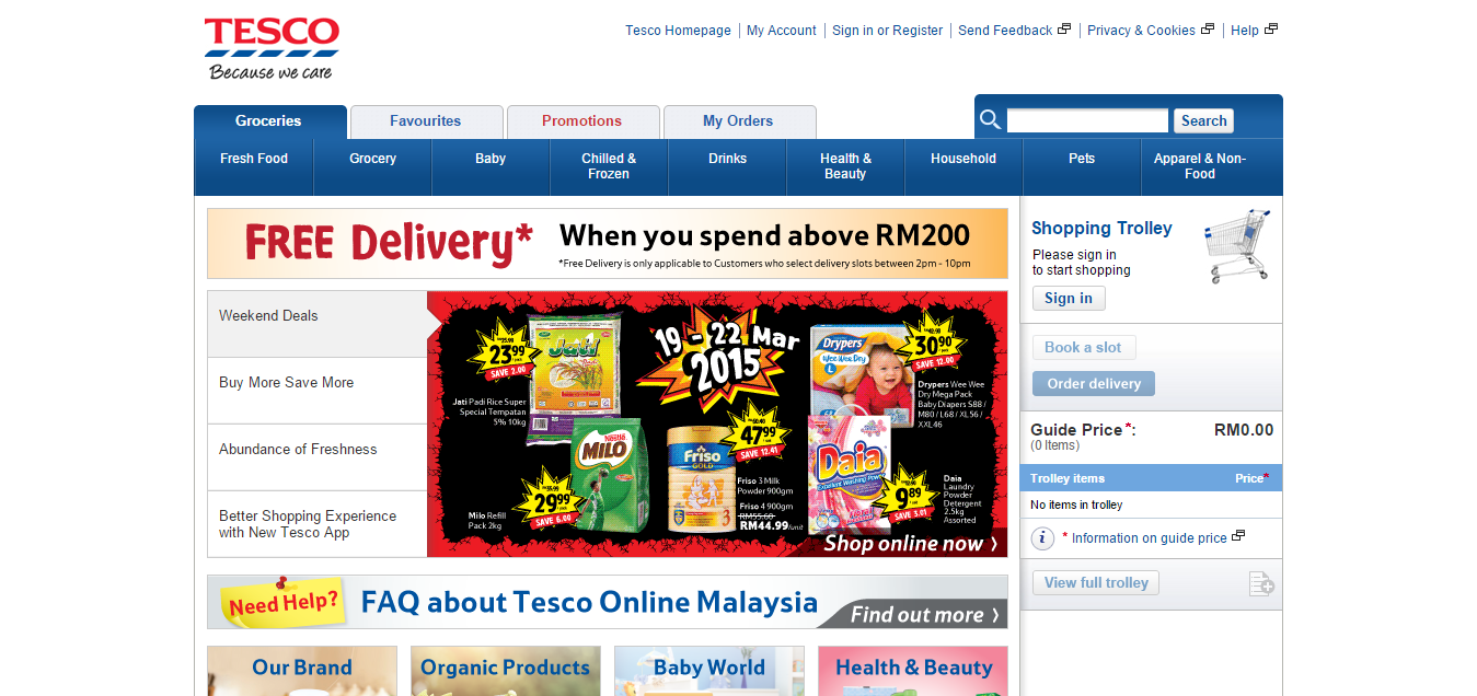 Top 10 e-commerce sites by big retailers in Malaysia