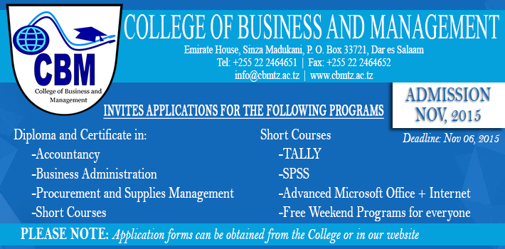 COLLEGE OF BUSINESS AND MANAGEMENT