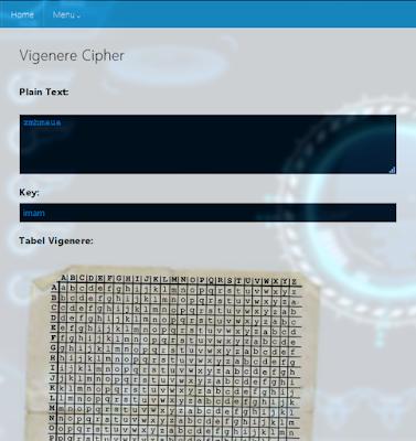 Implementasi Kriptografi Menggunakan Metode Vigenerecipher dengan PHP