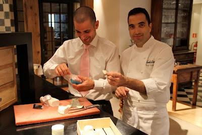 Óscar Velasco y Abel Valverde en Santceloni. Blog Esteban capdevila