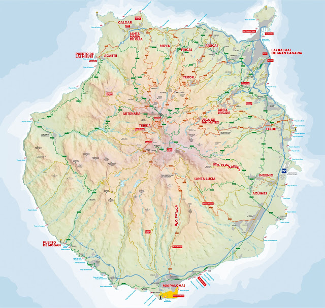 Travel around Spain - Gran Canaria map
