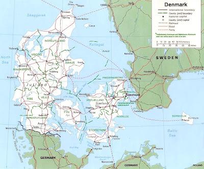 Dinamarca Mapa del País