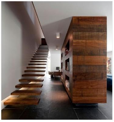 tangga dinding bahan kayu