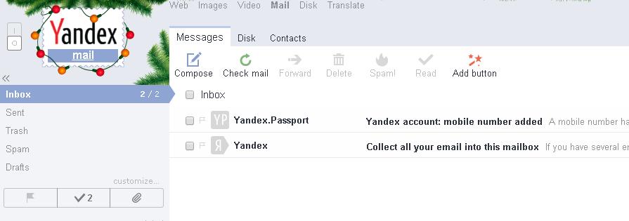 buat email baru di yandex