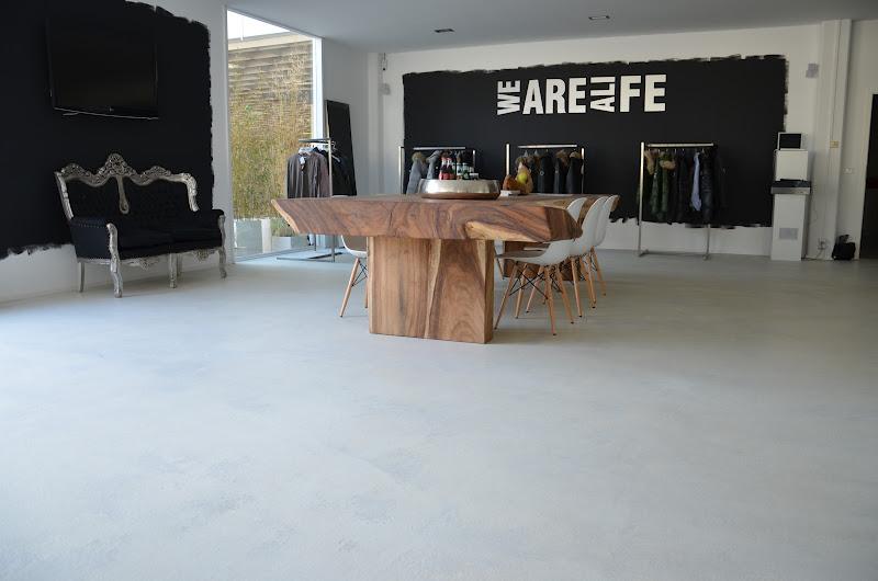 beton cire oberfl chen in beton look grauzone sichtestrich als veredelte oberfl che. Black Bedroom Furniture Sets. Home Design Ideas