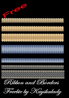Ribbon and borders freebie PNG Tubes