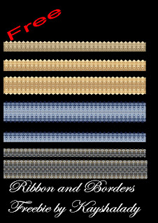 Ribbon border freebie PNG, PNG Tubes, PNG Tube files, Ribbon Png