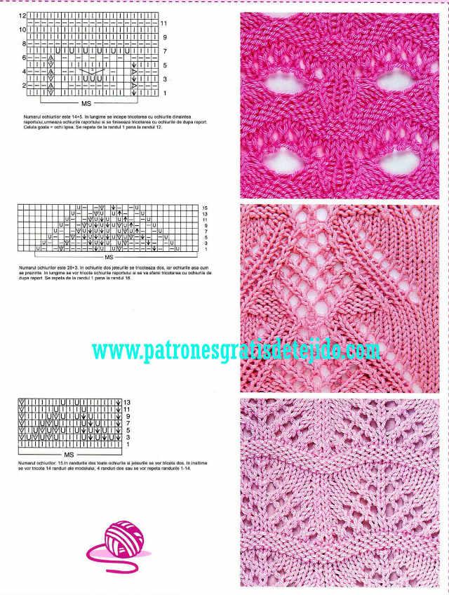 patrones dos agujas puntos