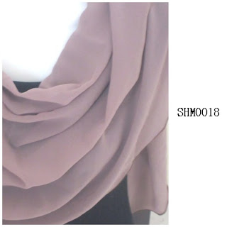 shawl halfmoon plain dull brown