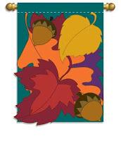 leaf bouquet applique garden flag
