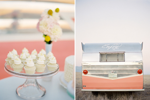 Cupcakes+and+a+trailer Coral Caravan Enjoy Cupcakes Styling | Vintage Styling Inspiration